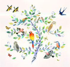 Birdtree  by Helen Cann, via Behance