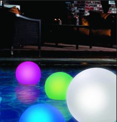 Swimming pool floating ball