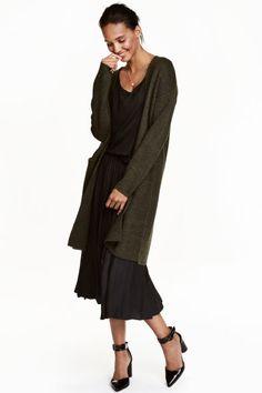 Long cardigan w/ midi dress | H&M