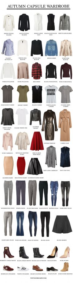 Autumn Capsule Wardrobe I have about a 1/3 of this, don't care for about a 1/3 of it but need to get the other 1/3. TMH