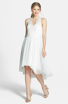 Ted Baker London 'Reseda' Embroidered Lace Chiffon High/Low Dress available at #Nordstrom
