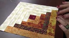 Log Cabin Chain Piecing - Animated Tutorial - YouTube