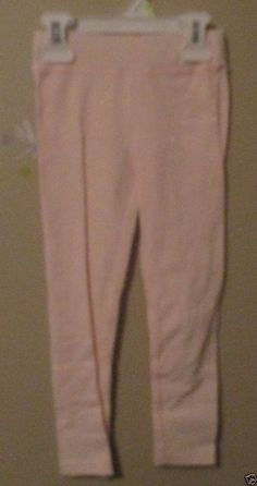 Girls Carter's Light Pink Leggings with Sparkle, Size 4T, NWT's #Carters