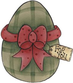 FOR YOU, EGG WITH BOW CLIP ART