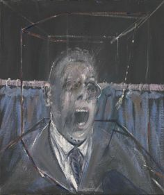 Francis Bacon, Study for a Portrait 1952. Oil and sand on canvas, 880 x 770 mm frame: 880 x 740 x 70. Bequeathed by Simon Sainsbury 2006, accessioned 2008 © Estate of Francis Bacon. All Rights Reserved, DACS 2002