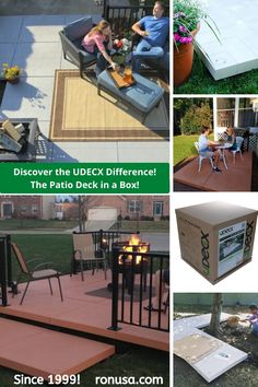 The UDECX patio deck is an easy DIY deck than can be easily installed in just hours. Best of all it is superior to a wood deck. #deck #patio #decking #compositedecking
