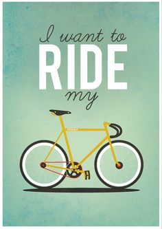 I want to Ride my Bicycle - A2 Poster by Milli-Jane