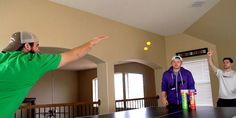 Loads of Spectacular Ping Pong Trick shots by #dudeperfect  Watch the brilliant Dude Perfect Guys perform some spectacular Ping Pong Trick shots .Seeing is believing there some incredible tricks here.