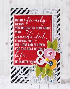Bella Blvd Family Frenzy and Just Add Color collections. Family card by creative team member Julia Akinina.