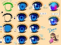 Eye Coloring Tutorial by Dea-89 on DeviantArt