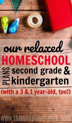 Our Relaxed Homeschool: Second Grade & Kindergarten