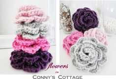 Tutorial for crochetflowers