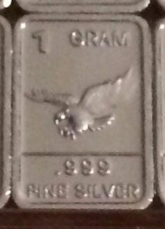 1 gram .999 silver barter fractional bullion bar USMC Marine