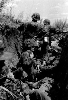 Leibstandarte-SS Adolf Hitler soldiers during Unternehmen Zitadelle / Operation Zitadelle in July 1943.