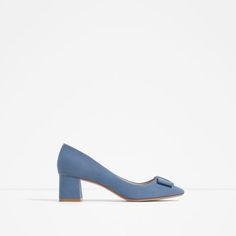 bc193927 ZARA - MUJER - SALÓN TACÓN MEDIO LAZO Zapatos Azules, Sandalias, Uñas  Azules,