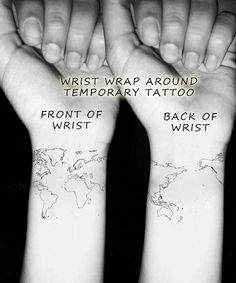 World map tattoo work of art pinterest map tattoos world map wrist temporary tattoo globe art atlas wrap by fasttat gumiabroncs Image collections