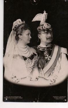 Kaiser Wilhelm II, Empress Augusta of Germany. That helmet!