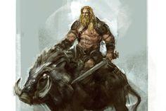 m Barbarian Sword Giant Wild Boar Mount Wilderness med Norse Runes, Norse Symbols, Norse Mythology Tattoo, Greek Mythology, Viking Art, Viking Warrior, Viking Religion, Thor, Viking Designs