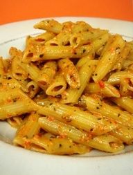 Roasted Red Pepper and Basil Pesto Penne | Easy Cookbook Recipes