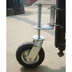 Gate Wheel with Suspension - 210-Lb. Capability, 8in. Pneumatic Tire, Mannequin# CT-GW01 Open your heavy wooden or metal gate simply with none sagging or d