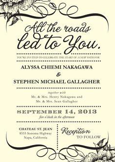 Navy Wedding Invitation Roundup | Laughter