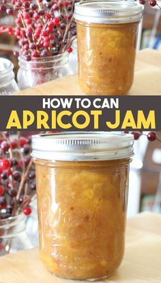 This easy Apricot Jam recipe is perfect for canning or making in small batches for quick eating! This homemade apricot jam doesn't use any pectin and is perfect for toast chicken or a hundred other uses! Jelly Recipes, Real Food Recipes, Fruit Recipes, Easy Apricot Jam Recipe, Thing 1, Food Stamps, Canning Recipes, Street Food, Fudge