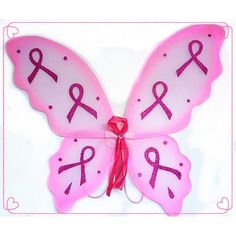 Beautiful butterfly wing for your next Race for the Cure run!