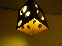 Metal cube hanging pendant light by occupationaltherapy on Etsy