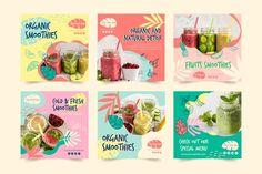 Organic smoothie natural detox instagram... | Free Vector #Freepik #freevector #template #instagram #fruit #glass Organic Smoothies, Smoothies For Kids, Fruit Smoothies, Cafe Menu Design, Food Poster Design, Instagram Bio, Instagram Story, Fruit Milkshake, Smoothie Menu