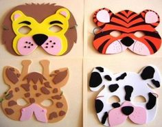 Tinker with animal masks! 8 patterns to print! Foam Crafts, Diy And Crafts, Paper Crafts, Diy For Kids, Crafts For Kids, Carnival Masks, Diy Mask, Mask For Kids, Birthday Parties