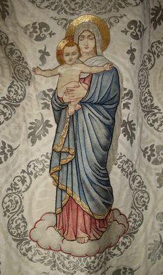 Banner Detail of Adderbury church, Oxfordshire, England by Thorskegga Thorn