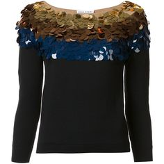 Sonia Rykiel Sequined Sweater ($276) ❤ liked on Polyvore featuring tops, sweaters, kirna zabete, sale, glitter sweater, 3/4 sleeve tops, three quarter sleeve tops, colorful tops and 3/4 sleeve sweaters
