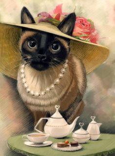 Lady Cat with Porcelain