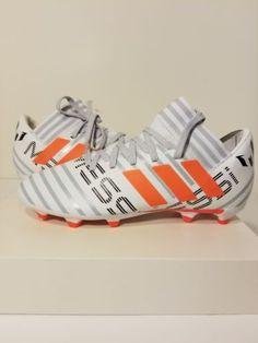109bb478683 Adidas Nemeziz Messi 17.3 FG BY2412 Youth Cleats White Solar Orange Gray