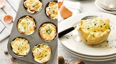Croque Madame Toastie Cups by @recipetin