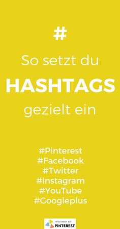 How to use hashtags on the various social media platforms marketing social media Social Media Trends, Social Media Marketing Books, Social Media Plattformen, Facebook Marketing, Internet Marketing, Online Marketing, Content Marketing, Mail Marketing, Influencer Marketing