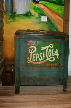Very Old Pepsi Cooler