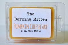 Pumpkin Cheesecake 3 oz. Wax Melts by TheBurningMitten on Etsy