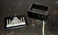 Taj Mahal Mother of Pearl Inlayed Black Onyx Marble Trinket box - Jewellery Box by JuxeStudio on Etsy