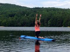 SUP Yoga on the lake in the White Mountains, NH. Join us for our next Back to Earth Retreat! www.sup-yo.com