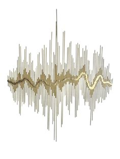 """Sound Waves"" Metal Wall Sculpture on Chairish.com"