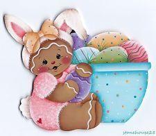 HP GINGERBREAD Girl with Easter Eggs FRIDGE MAGNET