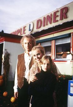 Luke, Laura, & Lucky in front of the Triple L Diner. 1993