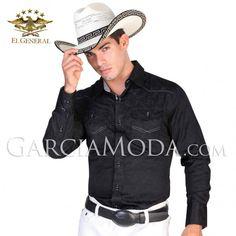 Camisa El General Western Wear 122086 Black  Vaquero Western