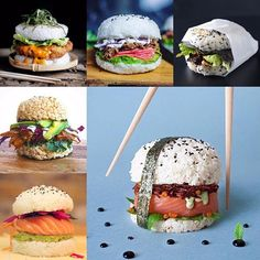 Eerrrrrr what the...? Sushi Burger? OMG obsessing over this right now…