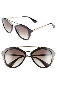 Prada 54mm Gradient Lens Sunglasses