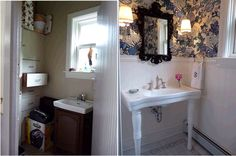 Powder Room Before & After - amazing!