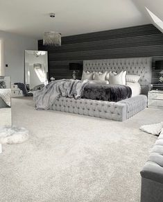 dream rooms luxury - dream rooms ` dream rooms for teens ` dream rooms for adults ` dream rooms for women ` dream rooms teenagers ` dream rooms for couples ` dream rooms luxury ` dream rooms for adults bedrooms Dream House Interior, Dream Home Design, Modern House Design, Room Ideas Bedroom, Home Decor Bedroom, Classy Bedroom Ideas, Master Bedroom Decorating Ideas, Grey Room Decor, Black Bedroom Decor