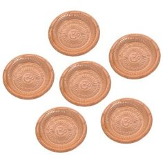 Accessory For Mandir Temple Puja Thali Om Gayatri Mantra Diwali Gifts Set Of 4