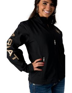 Ariat Women's Black Team Softshell Jacket   Cavender's